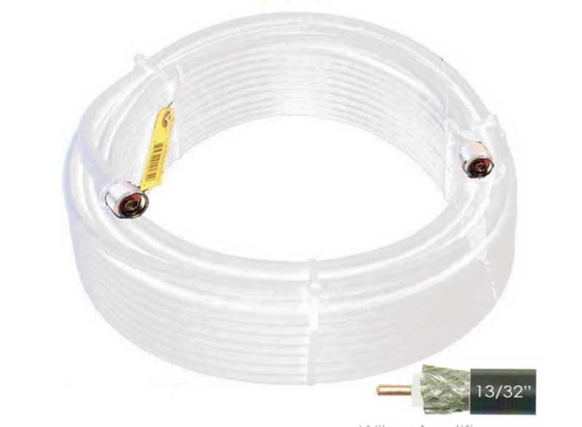 Wilson 952400 100-Foot WILSON400 Ultra Low-Loss Coaxial Cable Male-Male - White, label