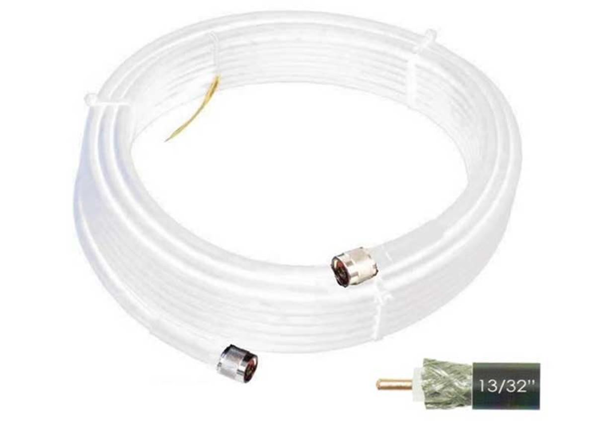 Wilson 952450 50-Foot WILSON400 Ultra Low-Loss Coaxial Cable Male-Male - White,