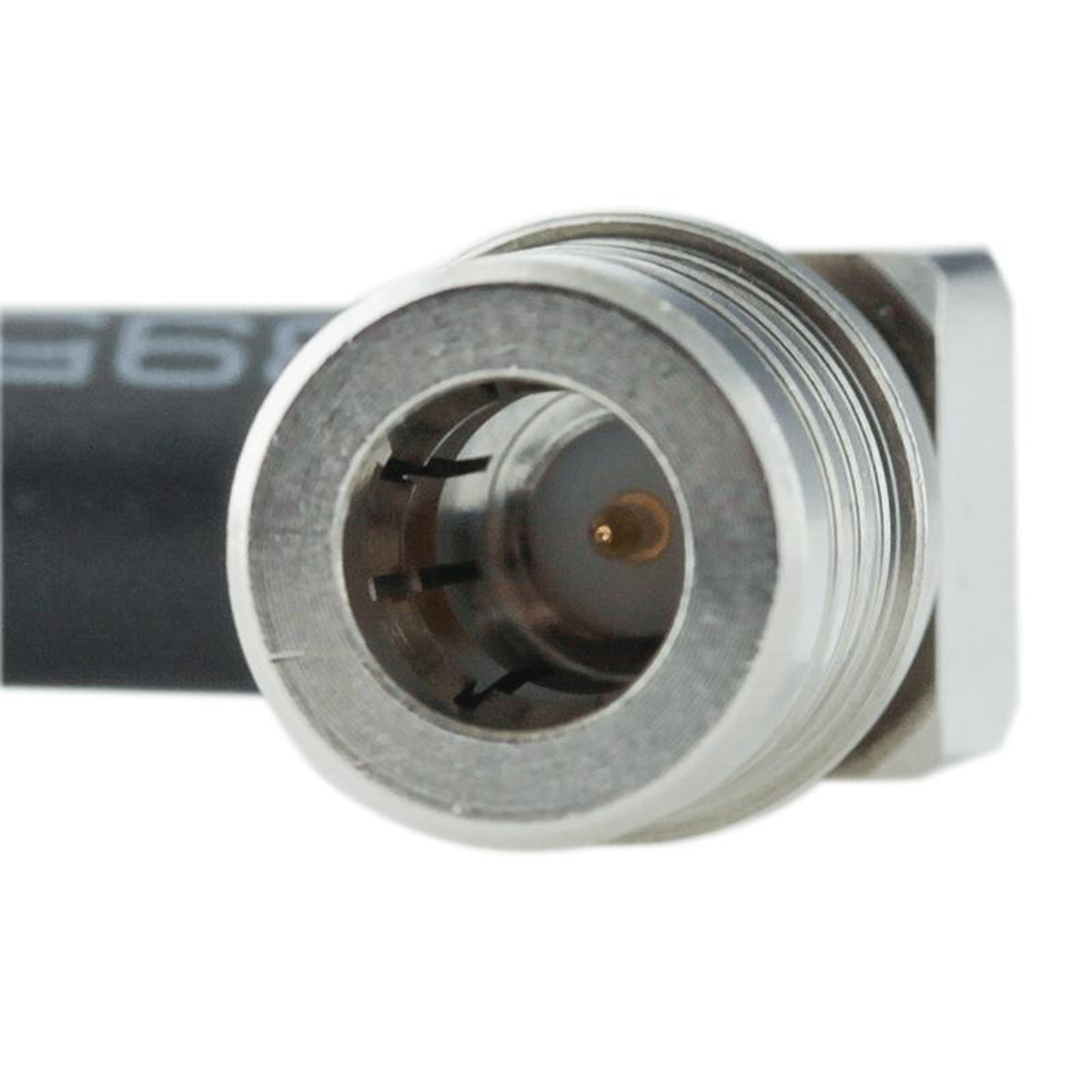 Bolton Tech Bolton Technical 2 meter N-Female Bulkhead to QMA-Male Angle Coax RF Pigtail Cable