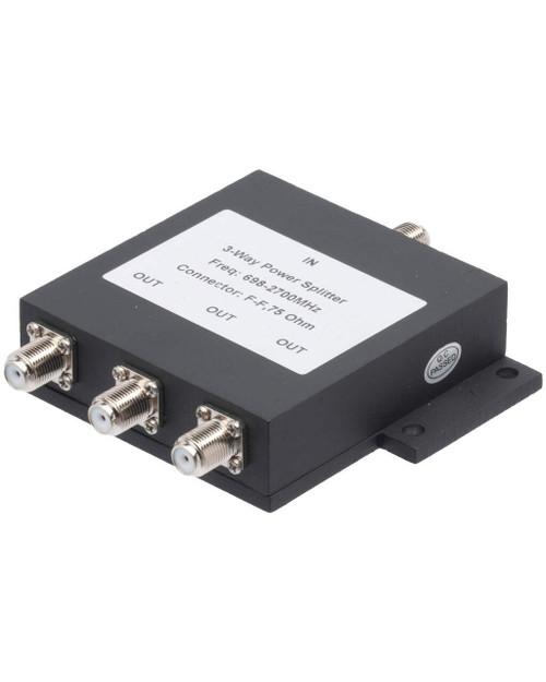 Bolton Tech Bolton Technical 3-Way Splitter For 698-2700Mhz, 75 Ohm Wilkinson Style