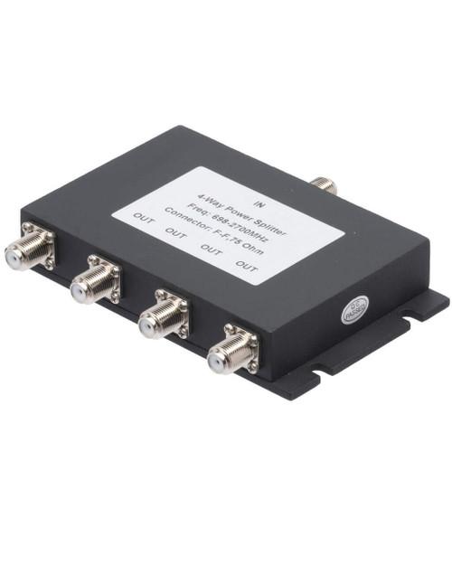 Bolton Tech Bolton Technical 4-Way Splitter For 698-2700Mhz, 75 Ohm Wilkinson Style