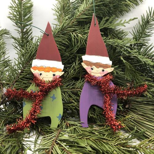 Purple elf ornament
