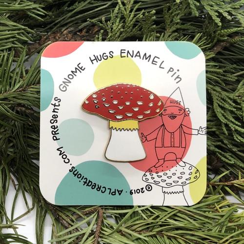 Redcap Mushroom enamel pin