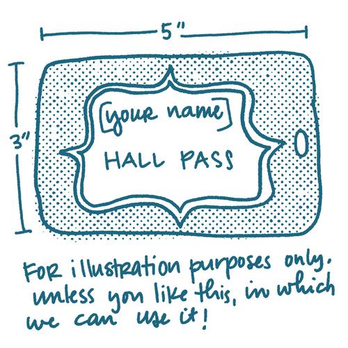 Semi-Custom Engraved Acrylic Hall Pass
