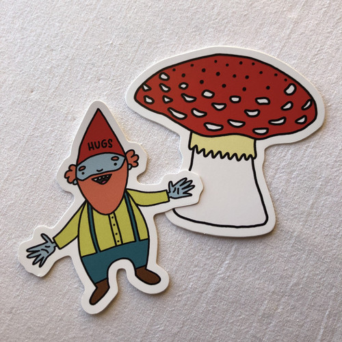 Gnome Sticker Set