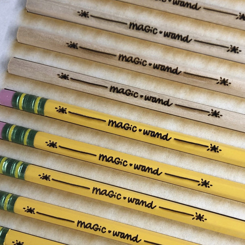 Custom Engraved Pencils [one dozen traditional yellow pencils]