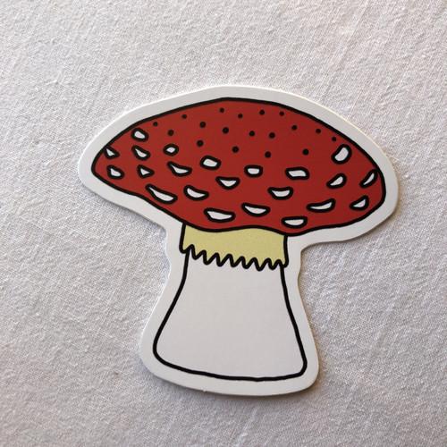 Redcap Mushroom vinyl sticker