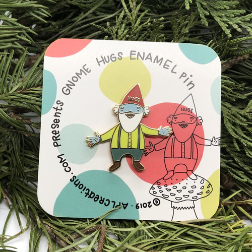 Gnorman the Gnome enamel pin