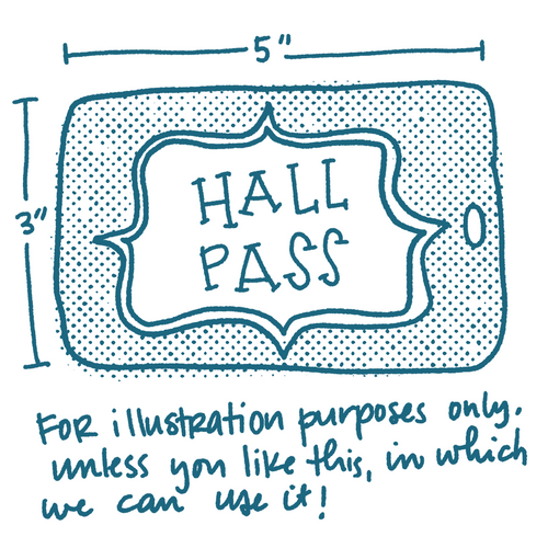 Engraved Acrylic Hall Pass