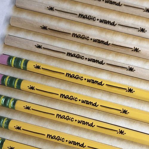 Custom Engraved Pencils [one dozen neon pencils]