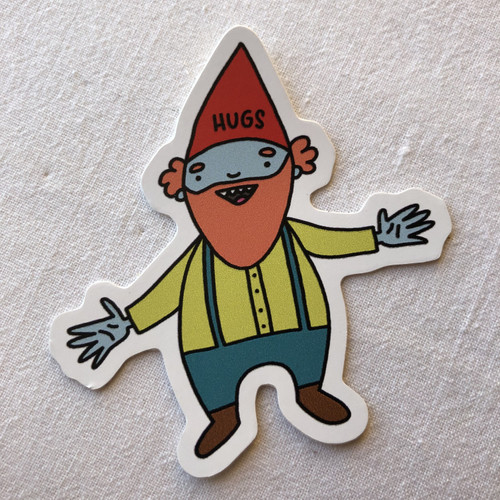Young Gnorman the Gnome vinyl sticker