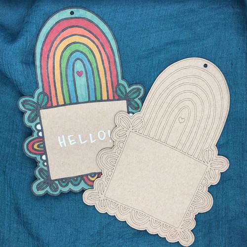 Rainbow Frame Card