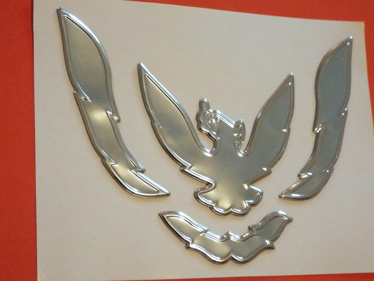 New 1993-1994-1995-1996-1997 Pontiac Firebird Bumper Emblem-Badge-Chrome New 1993-1994-1995-1996-1997  Pontiac Trans Am Bumper Emblem-Badge-Chrome New 1993-1994-1995-1996-1997  Pontiac Trans Am Nose Emblem-Badge-Chrome New 1993-1994-1995-1996-1997 Pontiac Firebird Nose Emblem-Badge-Chrome