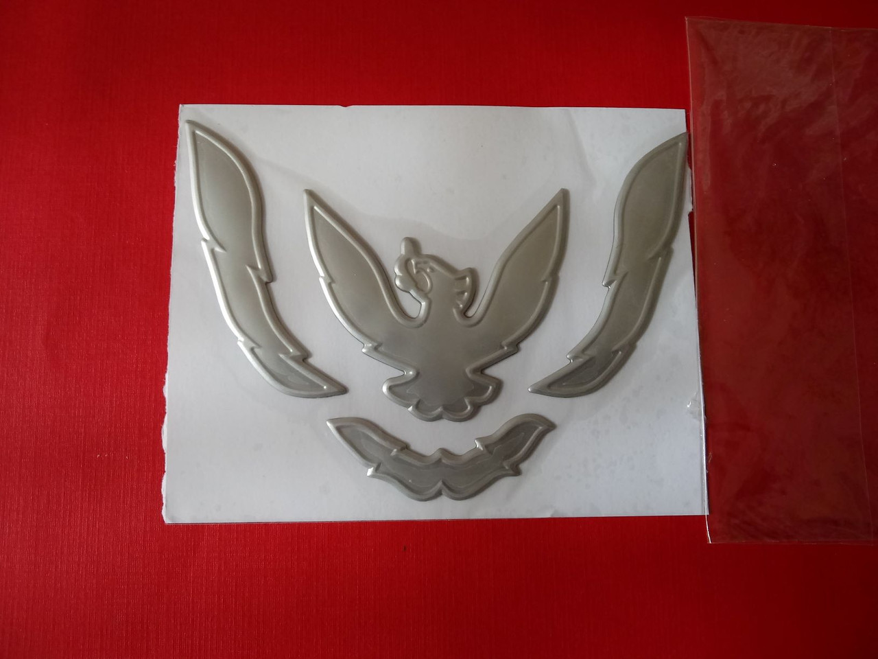 New 1993-1994-1995-1996-1997 Pontiac Firebird Bumper Emblem-Badge-Silver New 1993-1994-1995-1996-1997  Pontiac Trans Am Bumper Emblem-Badge-Silver New 1993-1994-1995-1996-1997  Pontiac Trans Am Nose Emblem-Badge-Silver New 1993-1994-1995-1996-1997 Pontiac Firebird Nose Emblem-Badge-Silver