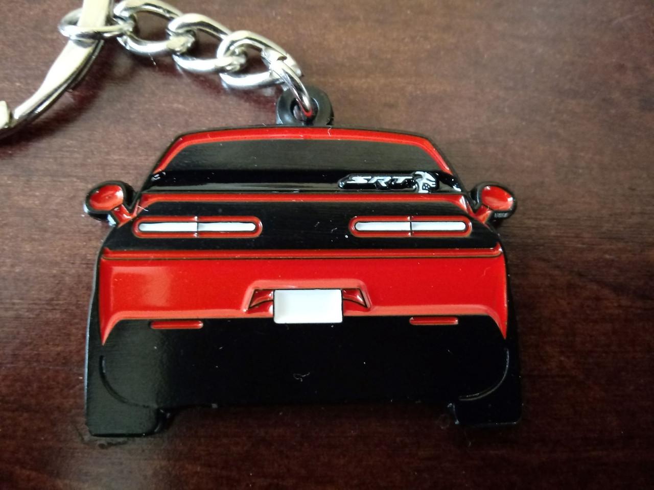 Dodge Challenger SRT Hellcat Enamel Metal Keychain  Dodge Challenger SRT Hellcat Metal Keychain