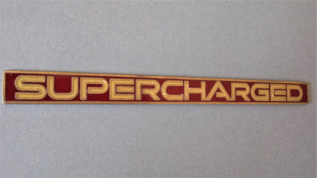1993 Pontiac Bonneville Supercharged Emblem-Badge 1992 Pontiac Bonneville Supercharged Emblem-Badge