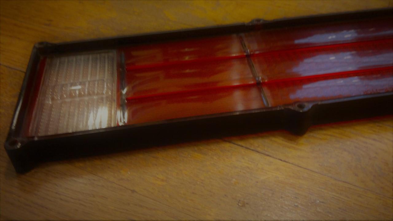 Original 1971-1972 Mercury Cougar Tail Light Lens-LH  1972 Mercury Cougar Tail Light-Tail Light Lens-LH [driver side]  1971 Mercury Cougar Tail Light-Tail Light Lens-LH [driver side]