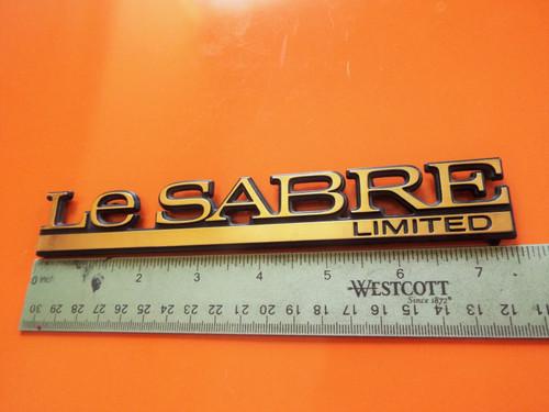Original 1992-1993-1994-1995-1996 Buick LeSabre Limited Quarter Panel Emblem-Badge-Gold color