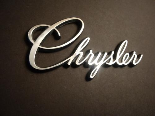 Original 1975-1976 Chrysler Cordoba-Chrysler Trunk Lid Emblem-Badge-Nameplate