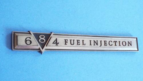Original 1980-1981 Cadillac Fleetwood Brougham 4-6-8 V8 Fender Emblem-Badge