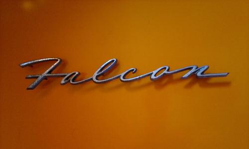 1963 Ford Falcon-Falcon Quarter Emblem-Badge 1962 Ford Falcon-Falcon Quarter Emblem-Badge