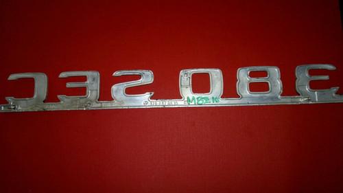 1981-1982-1983-1984-1985 Mercedes Benz 380SEC Trunk Lid Emblem-Badge