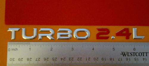 New 2003-2004-2005-2006-2007-2008-2009 Chrysler PT Cruiser GT Turbo 2.4L Emblem   2003 Chrysler PT Cruiser Turbo GT 2.4L Badge-Emblem Set  2004 Chrysler PT Cruiser Turbo GT 2.4L Badge-Emblem Set  2005 Chrysler PT Cruiser Turbo GT 2.4L Badge-Emblem Set  2006 Chrysler PT Cruiser Turbo GT 2.4L Badge-Emblem Set  2007 Chrysler PT Cruiser Turbo GT 2.4L Badge-Emblem Set  2008 Chrysler PT Cruiser Turbo GT 2.4L Badge-Emblem Set  2009 Chrysler PT Cruiser Turbo GT 2.4L Badge-Emblem Set