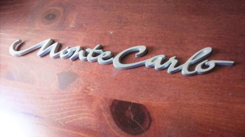 2005 Chevrolet Monte Carlo Trunk Lid Emblem-Badge 2004 Chevrolet Monte Carlo Trunk Lid Emblem-Badge 2003 Chevrolet Monte Carlo Trunk Lid Emblem-Badge 2002 Chevrolet Monte Carlo Trunk Lid Emblem-Badge 2001 Chevrolet Monte Carlo Trunk Lid Emblem-Badge 2000 Chevrolet Monte Carlo Trunk Lid Emblem-Badge