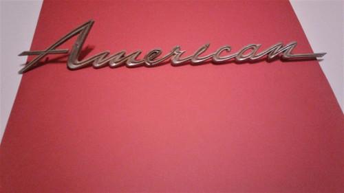 Original 1965 AMC Rambler American-American Quarter Panel Emblem