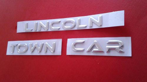 New 2003-2004-2005-2006-2007-2008-2009-2010-2011 Lincoln Town Car Trunk Emblem  2003 Lincoln Town Car Trunk Lid Badge-Emblem  2004 Lincoln Town Car Trunk Lid Badge-Emblem  2005 Lincoln Town Car Trunk Lid Badge-Emblem  2006 Lincoln Town Car Trunk Lid Badge-Emblem  2007 Lincoln Town Car Trunk Lid Badge-Emblem  2008 Lincoln Town Car Trunk Lid Badge-Emblem  2009 Lincoln Town Car Trunk Lid Badge-Emblem  2010 Lincoln Town Car Trunk Lid Badge-Emblem  2011 Lincoln Town Car Trunk Lid Badge-Emblem