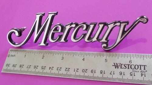 1976 Mercury Cougar-Mercury Trunk Lid Emblem-Badge 1975 Mercury Cougar-Mercury Trunk Lid Emblem-Badge 1974 Mercury Cougar-Mercury Trunk Lid Emblem-Badge