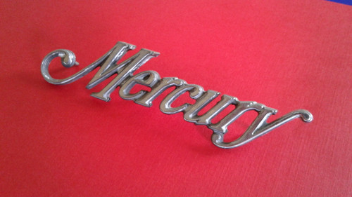 1976 Mercury Cougar-Mercury Front Clip Emblem-Badge 1975 Mercury Cougar-Mercury Front Clip Emblem-Badge 1974 Mercury Cougar-Mercury Front Clip Emblem-Badge