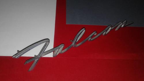 1963 Ford Falcon Station Wagon-Falcon Fender Emblem-Badge 1962 Ford Falcon Station Wagon-Falcon Fender Emblem-Badge 1961 Ford Falcon Station Wagon-Falcon Fender Emblem-Badge
