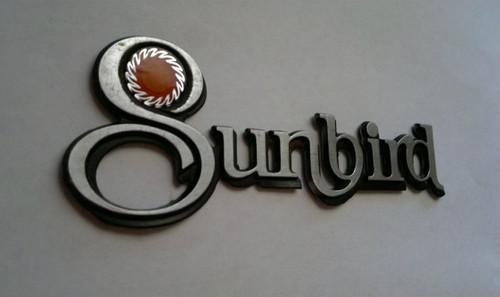 Original 1976-1977-1978-1979-1980 Pontiac Sunbird Fender Emblem-1976-1977-1978-1979-1980 Pontiac Sunbird Fender Badge