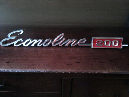 Original 1968-1969-1970-1971-1972-1973-1974 Ford Econoline 200 Door Emblem