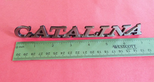 Original GM 1973-1974 Pontiac Catalina Fender Emblem Badge