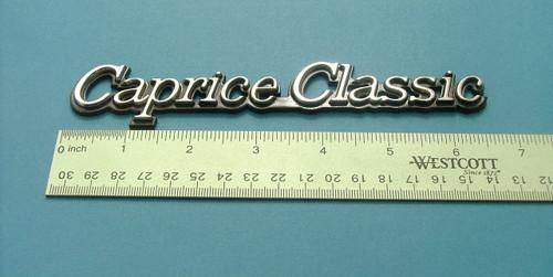 Original 1980-1981-1982-1983-1984-1985 Chevrolet Caprice Classic Fender Emblem