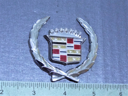 Original 1988-1989-1990-1991-92-1993 Cadillac Deville-Cadillac Crest Sail Panel Emblem-Badge