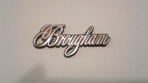 1987-1988-1989-1990-1991-1992 Cadillac Fleetwood Brougham Quarter Panel Emblem-Brown