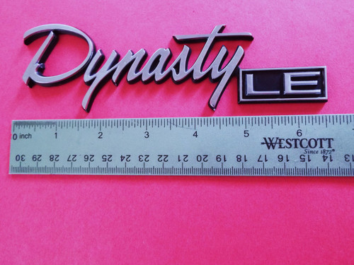 1988-1989-1990 Dodge Dynasty LE Trunk Lid Emblem-Badge