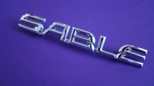 1999 Mercury Sable-Sable Trunk Lid Emblem-Badge 1998 Mercury Sable-Sable Trunk Lid Emblem-Badge 1997 Mercury Sable-Sable Trunk Lid Emblem-Badge 1996 Mercury Sable-Sable Trunk Lid Emblem-Badge