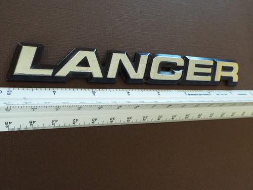 Original 1985-1986-1987-1988-1989 Dodge Lancer Trunk Lid Emblem-Badge