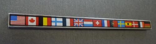 Original 1984-1985-1986-1988 Oldsmobile Cutlass Ciera International Series Flags Emblem-Badge
