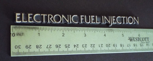 Original 1984-1985-1986 Ford Thunderbird-Mercury Cougar Fuel Injection Fender Emblem-Badge