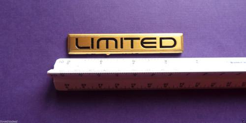 Original 1991-1992-1993-1994-1995-1996 Buick Roadmaster Limited Quarter Panel Emblem-Badge-Gold color