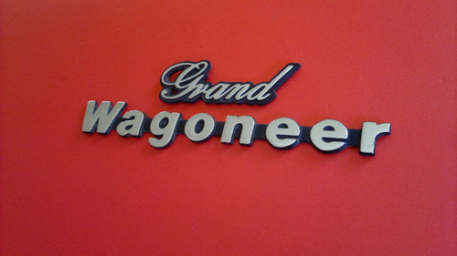 1984-1985-1986 Jeep Grand Wagoneer Fender Emblem-Badge