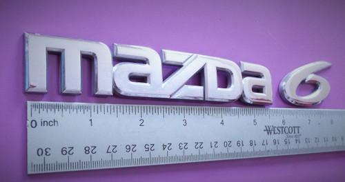 Original 2002-2003-2004-2005-2006 Mazda 6 Trunk Lid Emblem-Badge