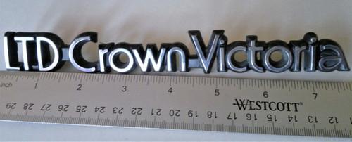 Original 1988-1989-1990-1991 Ford LTD Crown Victoria Trunk Lid Emblem-Badge