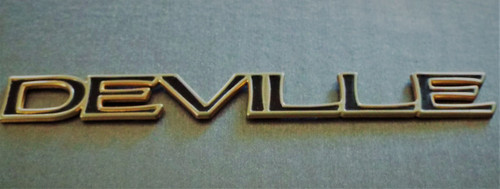 Original 1997-1998-1999 Cadillac Deville Door Emblem-Badge-Gold and Black