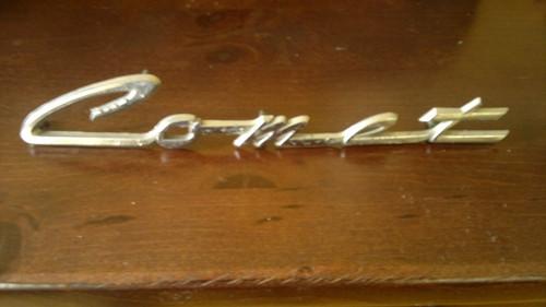 Original 1962 Mercury Comet Fender Emblem-Badge
